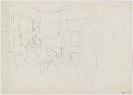 Sketch of morning prayers at South Park in the Dining Room, by Sir George Scharf - NPG D6722b