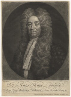 Sir Hans Sloane, Bt, by John Faber Jr, published by  Philip Overton, after  Thomas Murray - NPG D6770
