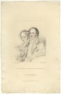 Horace Smith; James Smith, by Edward Francis Finden, published by  John Samuel Murray, after  George Henry Harlow - NPG D6781