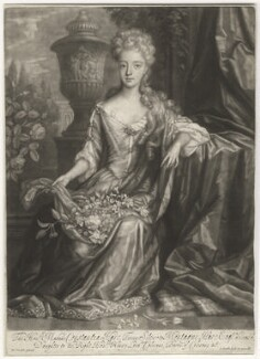 Constantia Smithson (née Hare), by John Smith, after  Herman Verelst - NPG D6796