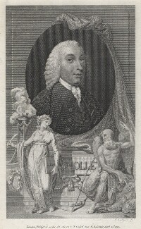Tobias George Smollett, by Joseph Collyer the Younger, after  Unknown artist - NPG D6797