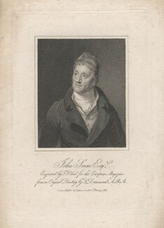Sir John Soane, by Thomas Blood, published by  James Asperne, after  Samuel Drummond - NPG D6805