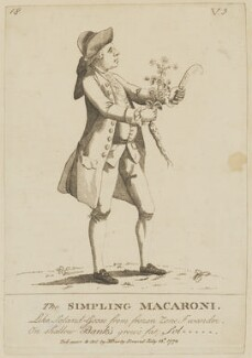 Daniel Charles Solander ('The Simpling Macaroni'), published by Mary Darly - NPG D6806