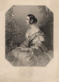Jane Georgiana Seymour (née Sheridan), Duchess of Somerset when Lady Seymour, by William Henry Mote, after  John Hayter - NPG D6809