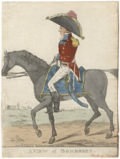 Probably Lord Charles Henry Somerset ('A view of Somerset'), by and published by Robert Dighton, after  C.B. - NPG D6810