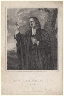 John Wesley, by Fry, after a print by  Bland - NPG D6848