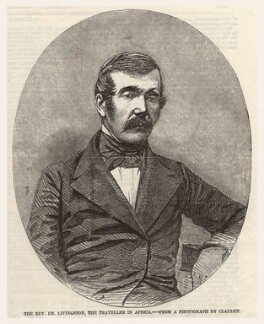 David Livingstone, published by Illustrated London News, after an intermediary drawing by  Thomas Dewell Scott, after a photograph by  Antoine Claudet - NPG D6854