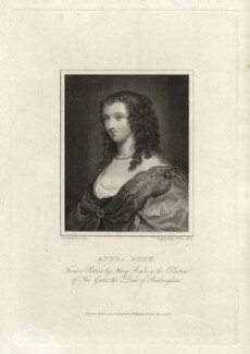 Aphra Behn, by James Fittler, after  Thomas Uwins - NPG D6859