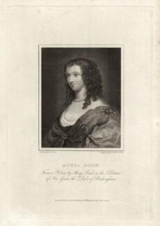Aphra Behn, by James Fittler, after  Thomas Uwins - NPG D6859