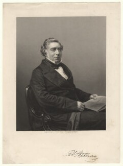 Robert Stephenson, by Daniel John Pound, after a photograph by  John Jabez Edwin Mayall - NPG D6864