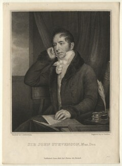 Sir John Andrew Stevenson, by Anthony Cardon, published by  James Power, after  Christina Robertson (née Saunders) - NPG D6866