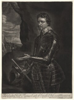 Thomas Wentworth, 1st Earl of Strafford, sold by Alexander Browne, after  Sir Anthony van Dyck - NPG D6873