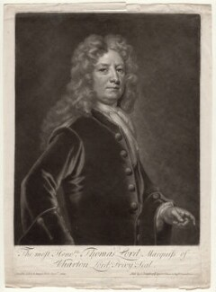 Thomas Wharton, 1st Marquess of Wharton, by and sold by John Smith, after  Sir Godfrey Kneller, Bt - NPG D6875