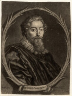 Francis Beaumont, by Francis Kyte, after  Unknown artist - NPG D689