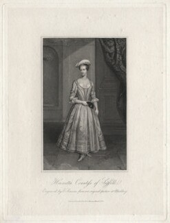 Henrietta Howard (née Hobart), Countess of Suffolk, by Edward Scriven, after a painting attributed to  Thomas Gibson, published 1824 (circa 1715-1725) - NPG D6898 - © National Portrait Gallery, London