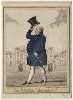 'The Protestants Champion!!' (Prince Augustus Frederick, Duke of Sussex), by (Isaac) Robert Cruikshank - NPG D6904