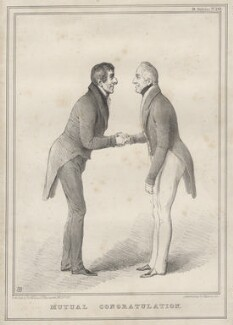 'Mutual Congratulation', by John ('HB') Doyle, printed by  Alfred Ducôte, published by  Thomas McLean, published 26 February 1833 - NPG D6905 - © National Portrait Gallery, London