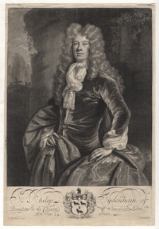 Sir Philip Sydenham, 3rd Bt, by John Smith, after  D. De Haese, 1700 - NPG D6909 - © National Portrait Gallery, London