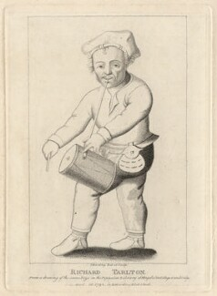 Richard Tarlton, by Silvester (Sylvester) Harding, published by  Edward Harding, after  Unknown artist - NPG D6925