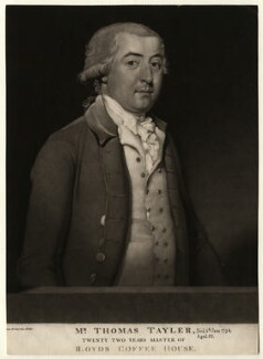 Thomas Tayler, by William Ward, after  William Redmore Bigg - NPG D6926