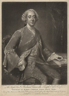 Richard Grenville-Temple, 2nd Earl Temple, by James Watson, published by  John Bowles, after  William Hoare - NPG D6939
