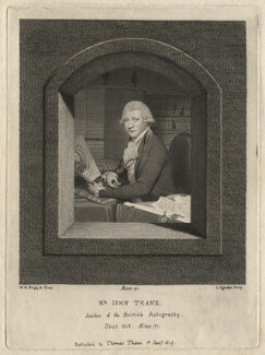 John Thane, by John Ogborne, published by  Thomas Thane, after  William Redmore Bigg - NPG D6947