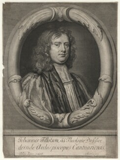 John Tillotson, by Abraham Blooteling (Bloteling), after  Sir Peter Lely - NPG D6959