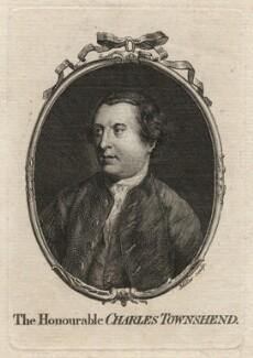 Charles Townshend, by J. Miller, after  Unknown artist - NPG D6971