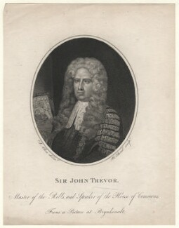 Sir John Trevor, by William Bond, after  Joseph Allen - NPG D6984