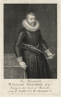William Trumbull, by George Vertue, after  O. Venius - NPG D6985