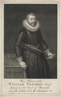 William Trumbull, by George Vertue, after  O. Venius - NPG D6986