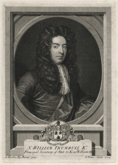 Sir William Trumbull, by George Vertue, after  Sir Godfrey Kneller, Bt - NPG D6987