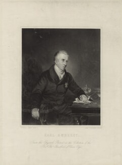 William Pitt Amherst, 1st Earl Amherst of Arracan, by James Posselwhite, after  Herbert Luther Smith - NPG D7000