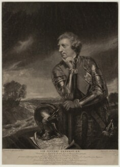 Jeffrey Amherst, 1st Baron Amherst, by James Watson, published by  John Boydell, published by  Josiah Boydell, after  Sir Joshua Reynolds, 1766 - NPG D7002 - © National Portrait Gallery, London
