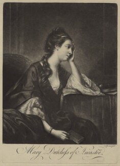 Mary (née Panton), Duchess of Ancaster, by Charles Spooner, after  Sir Joshua Reynolds, (1758) - NPG D7007 - © National Portrait Gallery, London