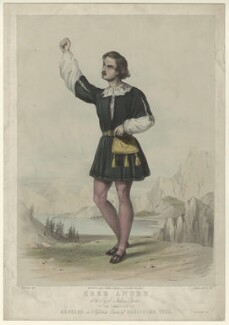 Aloys Ander as Arnoldo in Rossini's 'William Tell', by Edward Morton, after  F. Smallfield, 1840s-1860s - NPG D7010 - © National Portrait Gallery, London