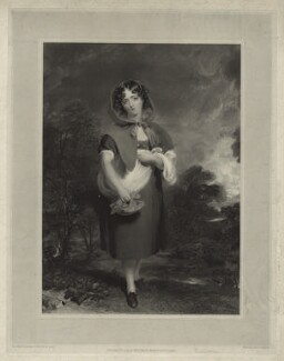 Miss Anderson as Little Red Riding Hood, by Richard James Lane, after  Sir Thomas Lawrence - NPG D7016