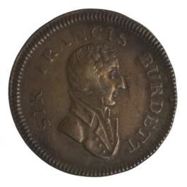 Sir Francis Burdett, 5th Bt, by Unknown artist - NPG D7026