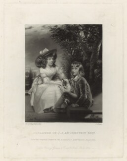 John Angerstein; Juliana Angerstein (when children), by James Scott, after  Sir Joshua Reynolds, published 1864 (1783) - NPG D7058 - © National Portrait Gallery, London