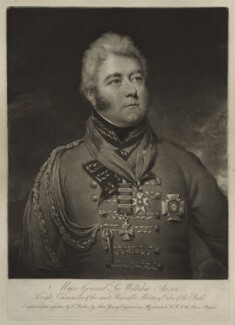 Sir William Anson, 1st Bt, by John Young, after  Thomas Barber - NPG D7066