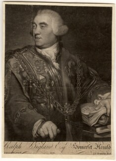 Ralph Bigland, by Charles Townley, after  Richard Brompton - NPG D707