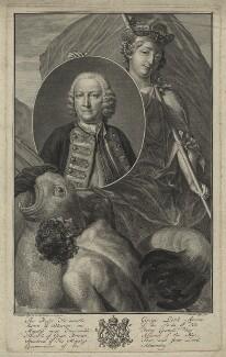 George Anson, 1st Baron Anson, by Jacobus Houbraken, after  J. Wandelaar, (1751) - NPG D7072 - © National Portrait Gallery, London