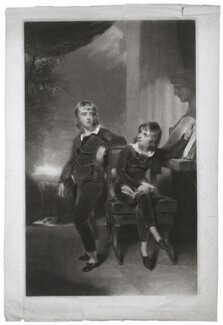 Sir Edmund Antrobus, 2nd Bt; Gibbs Crawford Antrobus (as children), by George Clint, after  Sir Thomas Lawrence - NPG D7077