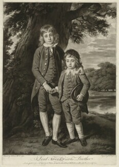 Henry Bathurst, 3rd Earl Bathurst; Apsley Bathurst (when Viscount Apsley and a boy), by Thomas Watson, after  Nathaniel Dance (later Sir Nathaniel Holland, Bt) - NPG D7079