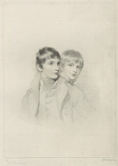 Master Arbuthnot; Master Arbuthnot (when children), by Frederick Christian Lewis Sr, after  Sir Thomas Lawrence - NPG D7080