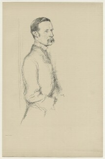 William Archer, by Sir William Rothenstein, 1897 - NPG D7084 - © National Portrait Gallery, London