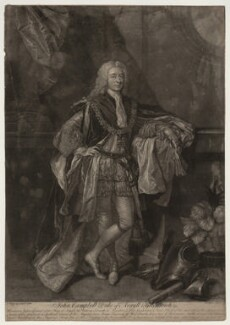 John Campbell, 2nd Duke of Argyll and Greenwich, by John Faber Jr, after  Allan Ramsay - NPG D7095