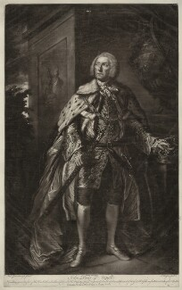 John Campbell, 4th Duke of Argyll, by James Watson, after  Thomas Gainsborough - NPG D7098