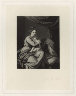 Anne Angerstein (née Muilman); Juliana Angerstein (later Madame Sabloukoff), by James Scott, after  Sir Joshua Reynolds - NPG D7105