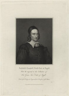 Archibald Campbell, 1st Marquess of Argyll, by Samuel Freeman, after  William Derby, after  David Scougall - NPG D7109